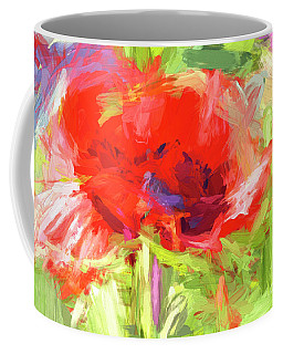 Coffee Mug featuring the photograph Poppy Abstract Photo Art by Sharon Talson