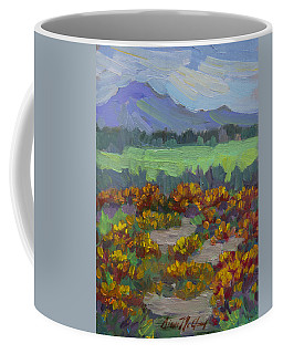 Coffee Mug featuring the painting Poppy Field At Fort Apache Indian Reservation by Diane McClary
