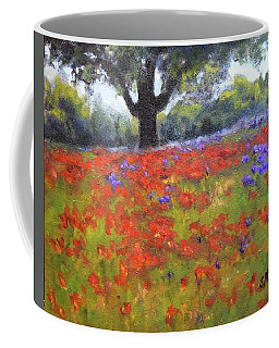 Poppy Field W Tree Coffee Mug