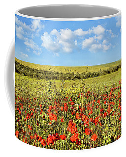 Coffee Mug featuring the photograph Poppy Fields by Marion McCristall