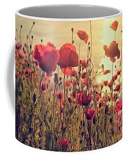 Poppy Flowers At Sunset Coffee Mug