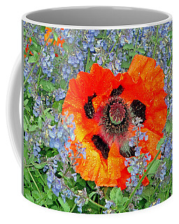 Poppy In Blue Coffee Mug