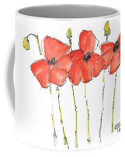 Red Poppy Play Coffee Mug