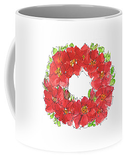 Poppy Wreath Coffee Mug