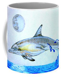 Coffee Mug featuring the drawing Porpoise by Mayhem Mediums