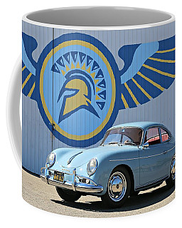 Porsche 356a True Blue Coffee Mug