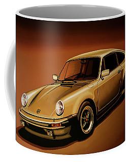 Porsche 911 Turbo 1976 Painting Coffee Mug