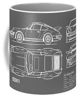 Porsche blueprint coffee mugs pixels porsche 911 turbo blueprint gray coffee mug malvernweather Images