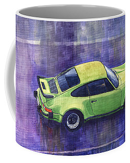 Porsche 911 Turbo Green Coffee Mug