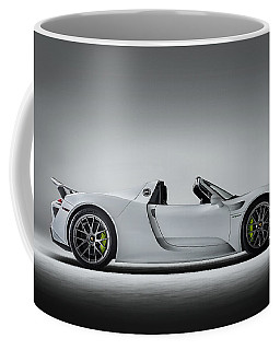 Coffee Mug featuring the digital art Porsche 918 Spyder by Douglas Pittman