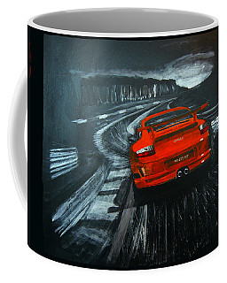 Coffee Mug featuring the painting Porsche Gt3 Le Mans by Richard Le Page