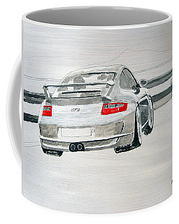 Coffee Mug featuring the painting Porsche Gt3 by Richard Le Page