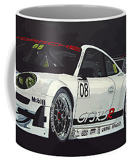 Coffee Mug featuring the painting Porsche Gt3 Rsr by Richard Le Page