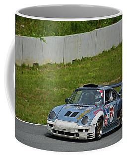 Porsche On Whiskey Hill Raceway Coffee Mug