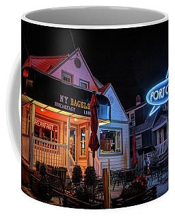 Coffee Mug featuring the photograph Port Cafe Wildwood by Kristia Adams