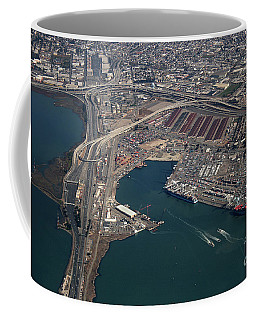 Port Of Oakland With Freeways Coffee Mug