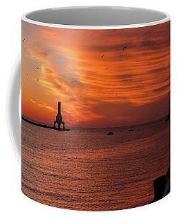 Port Washington Marina Sunrise Coffee Mug