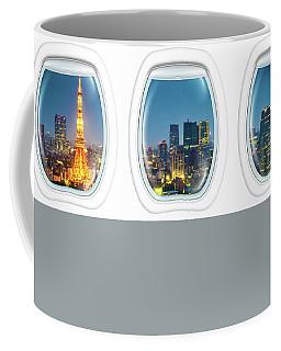 Porthole Frame On Tokyo Tower Coffee Mug