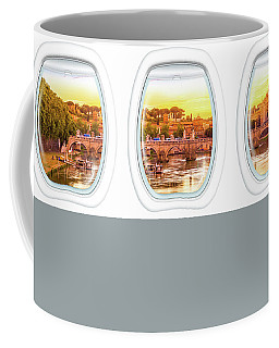 Porthole Windows On Rome Coffee Mug