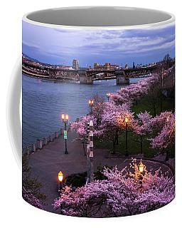 Portland Cherry Blossoms Coffee Mug
