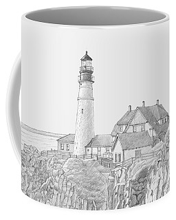 Portland Head Light Drawing Coffee Mug