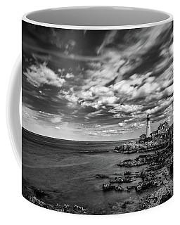 Portland Head Light In Black And White Coffee Mug