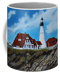 Portland Head Light In Maine Viewed From The South Coffee Mug