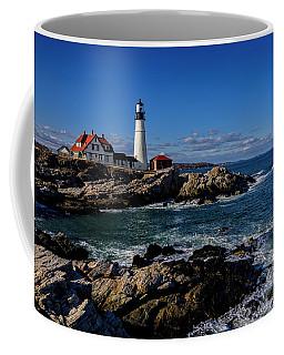 Coffee Mug featuring the photograph Portland Head Light No.32 by Mark Myhaver