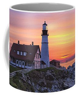Portland Head Lighthouse Sunrise Coffee Mug