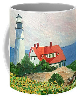 Portland Headlight With Brown Eyed Susans Coffee Mug