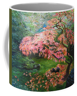 Portland Japanese Maple Coffee Mug by LaVonne Hand