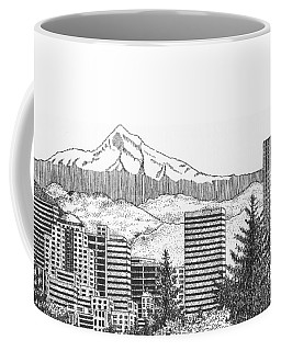 Portland-mt. Hood Coffee Mug by Lawrence Tripoli