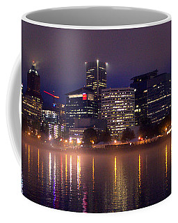 Portland Night Skyline Coffee Mug by Joseph Skompski