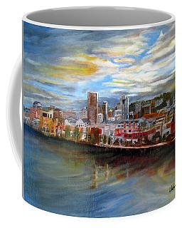 Portland Waterfront From Broadway Bridge Coffee Mug by LaVonne Hand