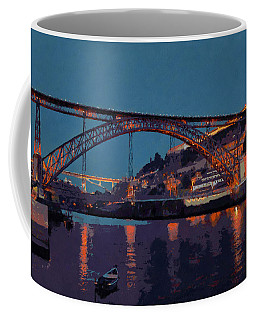 Porto River Douro And Bridge In The Evening Light Coffee Mug