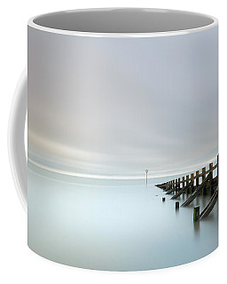 Coffee Mug featuring the photograph Portobello Sea Groynes by Grant Glendinning