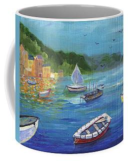 Coffee Mug featuring the painting Portofino, Italy by Jamie Frier