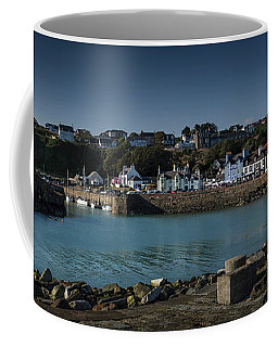 Portpatrick Harbour And Lighthouse Coffee Mug
