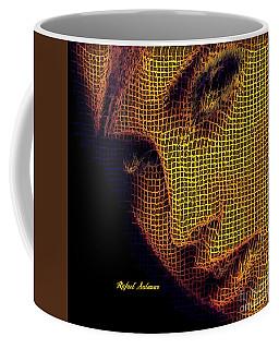 Coffee Mug featuring the digital art Portrait In Mesh by Rafael Salazar