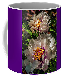 Portrait In White And Magenta Coffee Mug