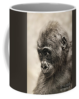 Portrait Of A Baby Gorilla Digitally Altered Coffee Mug