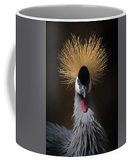 Portrait Of A Crowned Crane 2 Coffee Mug by Ernie Echols
