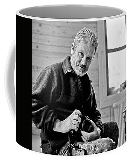 Portrait Of A Dead Photographer Coffee Mug by Dubi Roman