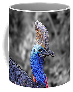 Portrait Of A Double-wattled Cassowary II Altered Version Coffee Mug