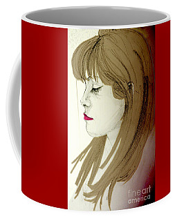 Portrait Of A Lovely Young Woman Coffee Mug