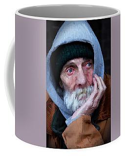 Portrait Of A Homeless Man Coffee Mug