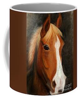 Portrait Of A Horse Coffee Mug by Jasna Dragun