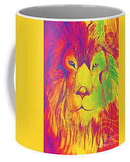 Coffee Mug featuring the photograph Portrait Of A Lion 1 by Maria Urso