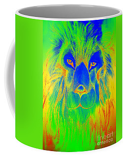 Coffee Mug featuring the photograph Portrait Of A Lion 2 by Maria Urso
