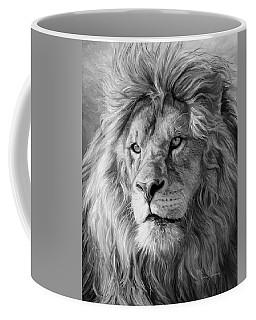 Portrait Of A Lion - Black And White Coffee Mug